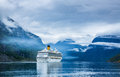 Cruise liners on hardanger fjorden ship norway Royalty Free Stock Photos