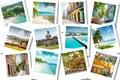 Cruise memories on photos - summer caribbean vacations Royalty Free Stock Photo