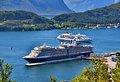 Cruise Port in Alesund, Norway Royalty Free Stock Photo