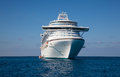 Cruise Ship Anchored in Caribbean Royalty Free Stock Photo