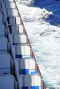 Cruise ship balconies Stock Photos