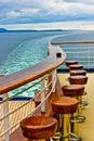 Cruise Ship Bar & Wake Royalty Free Stock Photo