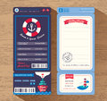 Cruise Ship Boarding Pass Ticket Wedding Invitation Template