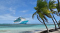 Cruise ship in the Caribbean Royalty Free Stock Photo