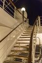 Cruise ship deck at night Royalty Free Stock Photo