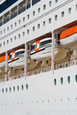 Cruise ship detail Royalty Free Stock Photo