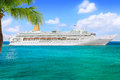 Cruise ship george town grand cayman island february p o line oriana sails from port george town on february Stock Photo
