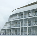 Cruise ship larger with balconies Royalty Free Stock Photography