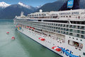Cruise ship lifeboat drill skagway alaska july the liner norwegian jewel performs a Royalty Free Stock Image
