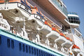 Cruise ship lifeboats on a Royalty Free Stock Photography