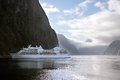 Cruise ship in the milford sound southland south island new zealand Royalty Free Stock Photos