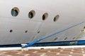 Cruise Ship Moored at Dock Royalty Free Stock Photo
