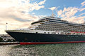 Cruise ship ms queen victoria cunard line in venice italy august built morning light Royalty Free Stock Photos
