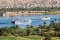 Cruise ship on Nile River Royalty Free Stock Photo