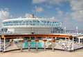 Cruise ship pool Royalty Free Stock Photo