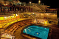 Cruise Ship Pool at Night Royalty Free Stock Photo
