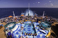 Cruise Ship  - Pool Party Spot Stock Image