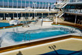 Cruise Ship Pool Wave Royalty Free Stock Photo