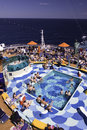 Cruise Ship - Pools, hot tub, sunbathing Stock Image