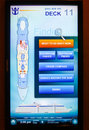 Cruise Ship Royal Caribbean Touch Screen Map Stock Image