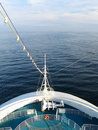Cruise ship at sea during caribbean voyage Stock Photos