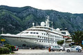 Cruise ship seaborn spirit kotor port montenegro came into Royalty Free Stock Photography