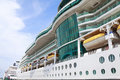 Cruise ship side closeup Royalty Free Stock Photo