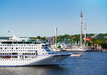 Cruise ship in stockholm city Royalty Free Stock Images