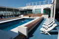 Cruise ship swimming pool Stock Photos