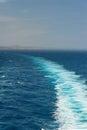 Cruise ship trace on sea Royalty Free Stock Photo