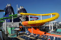 Cruise ship water slide Stock Image