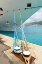 Cruise shipped moored at port passenger ship of st thomas us virgin islands Royalty Free Stock Photography