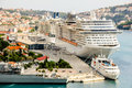 Photo : Cruise ships port Dubrovnik beach  summer