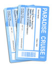 Cruise ticket for a dream cruise Royalty Free Stock Photo