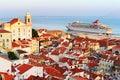Cruise to Lisbon Royalty Free Stock Photo