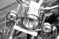 Cruiser bike headlights beautiful shot of Stock Photo
