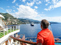 Cruising through the mediterranean is a great way to see many countries it s like a floating hotel Stock Images