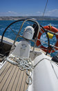 Cruising on a sailing boat Stock Images