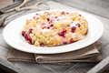 Crumble cake with red currants Royalty Free Stock Photo