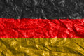 Crumbled flag Germany Royalty Free Stock Photo