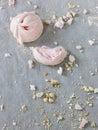 Crumbled meringue Stock Photos