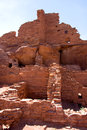 Crumbling ancient stone structure wupatki pueblo national monument near flagstaff arizona Stock Photography