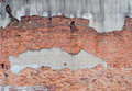 Crumbling brick wall Royalty Free Stock Photos