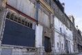 Crumbling Facade of Abandoned Warehouse Royalty Free Stock Photo