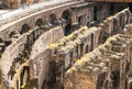 Crumbling Labrynth Under Coliseum Royalty Free Stock Photo
