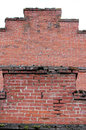 Crumbling Red Brick Wall Royalty Free Stock Photo