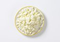 Crumbly white cheese Royalty Free Stock Photo