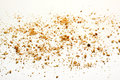 Crumbs on white background Royalty Free Stock Photo