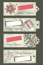 Crumple christmas labels with place for text vect vector illustration Royalty Free Stock Photography
