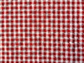 Crumple texture of a red and white checkered picnic blanket Royalty Free Stock Photo